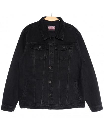 0670 Redmoon куртка джинсовая мужская темно-серая осенняя коттоновая (3XL-6XL, 4 ед.) REDMOON