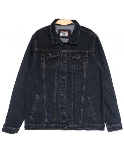 0641 Redmoon куртка джинсовая мужская темно-синяя осенняя коттоновая (3XL-6XL, 4 ед.) REDMOON
