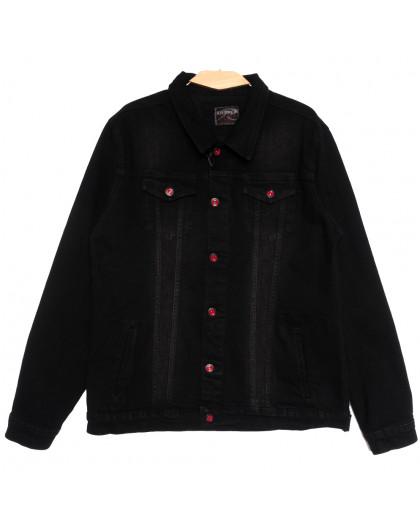 0545 Redmoon куртка джинсовая мужская черная осенняя стрейчевая (XL-4XL, 4 ед.) REDMOON