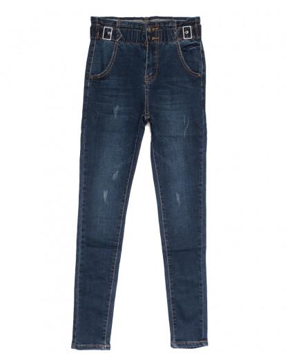 0519 New jeans джинсы женские на резинке с царапками синие осенние стрейчевые (25-30, 6 ед.) New Jeans