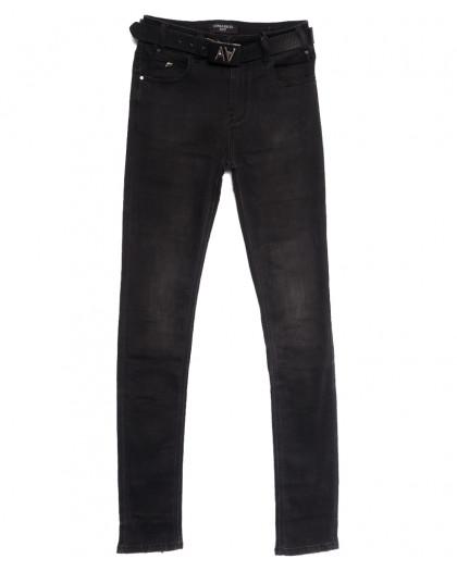 9376 Dimarkis Day джинсы женские полубатальные темно-серые осенние стрейчевые (28-33, 6 ед.) Dimarkis Day