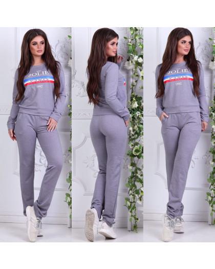 0005-03 серый женский спортивный костюм (42,42,42, 3 ед.) Костюм