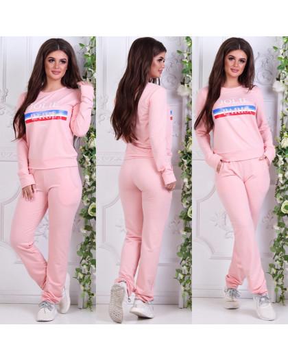 0005-02 розовый женский спортивный костюм (42, 1 ед.) Костюм