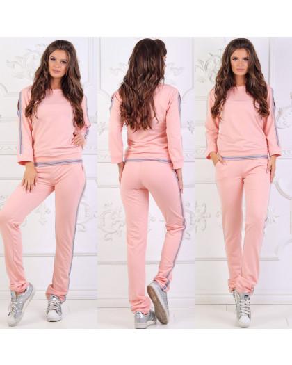 0022-2 розовый женский спортивный костюм (48,48, 2 ед.) Костюм