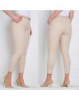 9783-P (GS9783P) Moon girl брюки женские батальные 7/8 бежевые весенние стрейчевые (30-38, 12 ед.): артикул 1090762