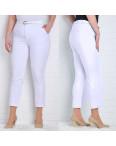 9787-B (GS9787B) Moon girl брюки женские батальные 7/8 белые весенние стрейчевые (30-42, 6/12 ед.): артикул 1090755