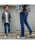 2388 Natsui джинсы мужские с царапками синие весенние стрейчевые (30-38, 8 ед.): артикул 1109144