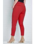 9782-L (GS9782L) Moon girl брюки женские батальные 7/8 красные весенние стрейчевые (29-36, 11 ед.): артикул 1090748