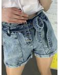 0027-8 T Relucky шорты женские голубые стрейчевые (6 ед. размеры: 25.26.27.28.29.30): артикул 1120045