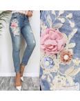 3650 New jeans мом с царапками синий весенний коттоновый (25-30, 6 ед.): артикул 1103397