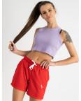 1422-13 Mishely шорты женские красные из двунитки (4 ед. размеры: S.M.L.XL): артикул 1123379