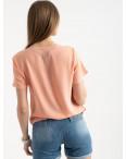 2022-7 футболка персиковая женская с принтом (5 ед. размеры: 42.44.46.48.50): артикул 1122396