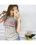 2518-5 Akkaya серая футболка женская с принтом стрейчевая (4 ед. размеры: S.M.L.XL): артикул 1119801