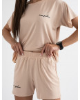 8340-10 бежевый женский костюм трикотажный (4 ед. размеры: S.M.L.XL): артикул 1123385