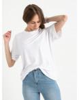 14440-2 Mishely белая футболка женская в стиле oversize (4 ед. размеры: S.M.L.XL): артикул 1122109