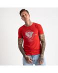 2607-3 красная футболка мужская с принтом (4 ед. размеры: M.L.XL.2XL): артикул 1120932