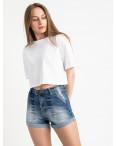 6663-5 Relucky шорты джинсовые голубые стрейчевые (6 ед. размеры: 25.26.27.28.29.30): артикул 1121718