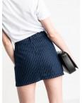 0200-6 Defile юбка на пуговицах синяя котоновая (6 ед. размеры: 34.36.36.38.38.40): артикул 1119522