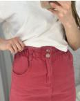3418 юбка джинсовая красная котоновая (6 ед. размеры: XS.S/2.M/2.L): артикул 1118547
