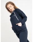 15111-9 Mishely темно-синий женский спортивный костюм батальный из двунитки ( 4 ед. размеры: 50.52.54.56): артикул 1121504