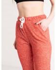 1420-4 красные спортивные штаны женские из двунитки (4 ед. размеры: S.M.L.XL): артикул 1119075