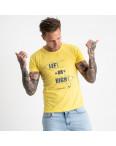 2621-6 желтая футболка мужская с принтом (4 ед. размеры: M.L.XL.2XL): артикул 1121062