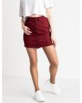 0040-11 Arox юбка джинсовая бордовая стрейчевая (6 ед. размеры: 34.36.38.40.40.40): артикул 1118724