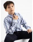 1901 Boston Public голубая рубашка в полоску на мальчика 7-15 лет (5 ед. размеры: 30/31.32/33.33/34.34/35.35/36): артикул 1118408