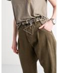 0460 Whats up 90s джинсы-балоны женские хаки котоновые (5 ед. размеры: 26.27.28.29.30): артикул 1119358