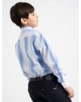 1902 Boston Public голубая рубашка в полоску на мальчика 7-15 лет (5 ед. размеры: 30/31.32/33.33/34.34/35.35/36): артикул 1118409