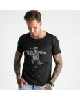 2625-1 черная футболка мужская с принтом (4 ед. размеры: M.L.XL.2XL): артикул 1121083