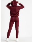 15225-2 бордовый женский спортивный костюм из двунитки (4 ед. размеры: S.M.L.XL): артикул 1119953