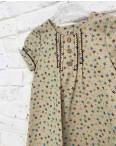 1325-2 платье льняное бежевое на девочку 2-4 года (3 ед.размеры: 92.98.104): артикул 1121509