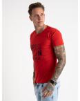 2622-3 красная футболка мужская с принтом (4 ед. размеры: M.L.XL.2XL): артикул 1121067