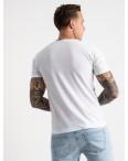 2619-10 белая футболка мужская с принтом (4 ед. размеры: M.L.XL.2XL): артикул 1121049