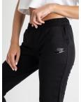 2525 черные спортивные штаны из двунитки (4 ед. размеры: 42.44.46.48): артикул 1123345