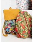 8999-2 цветной рюкзак женский микс 5-ти моделей (5 ед. без выбора моделей): артикул 1118743