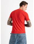 2606-3 красная футболка мужская с принтом (4 ед. размеры: M.L.XL.2XL): артикул 1120928