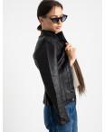 2007 куртка черная женская из кожзама (5 ед. размеры: S.M.L.XL.XXL) : артикул 1123229