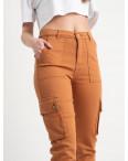 2280-01 джогеры оранжевые стрейчевые (7 ед. размеры: 34.36/3.38/2.40): артикул 1120828