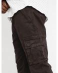 1959-8 In Yesir джоггеры полубатальные мужские коричневые стрейчевые (8 ед. размеры: 32.33.34.35.36.38.40.42): артикул 1118612