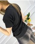 2503-1 Akkaya черная футболка женская с принтом стрейчевая (4 ед. размеры: S.M.L.XL): артикул 1119782