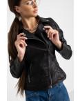 2018 куртка-косуха черная женская из кожзама (5 ед. размеры: S.M.L.XL.XXL) : артикул 1123234