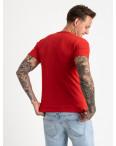 2627-3 красная футболка мужская с принтом (4 ед. размеры: M.L.XL.2XL): артикул 1121095