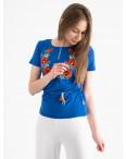 1824 футболка-вышиванка женская микс моделей и цветов (5 ед. размеры: S.M.L.XL.2XL): артикул 1120655