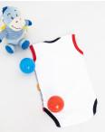 17073 Emotion kids белый в синюю полоску боди на мальчика 3-12 мес. (6 ед. размеры: 68.68.74.74.80.80): артикул 1119990