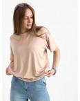 14440-3 Mishely бежевая футболка женская в стиле oversize  (4 ед. размеры: S.M.L.XL): артикул 1122110