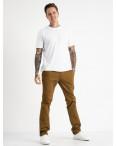 5764 LS брюки мужские желтовато-коричневые стрейчевые (7 ед. размеры: 28.29.30.31.32.33.34): артикул 1119375