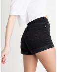 8013 шорты женские черные котоновые (8 ед. размеры: 25/2.26/3.28/2.30.32): артикул 1120534