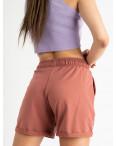 1422-11 Mishely шорты женские терракотовые из двунитки (4 ед. размеры: S.M.L.XL): артикул 1123378